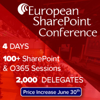 European SharePoint Conference 2016 Vienna